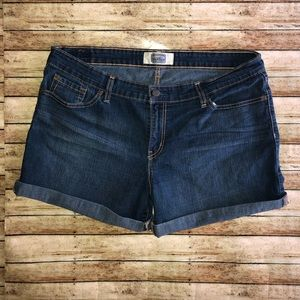 Signature Levi's Strauss Dark Wash Shorts Sz 14